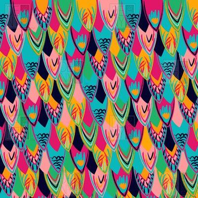DENY Designs Vy La Love Birds 1 Woven Polyesterr Shower Curtain