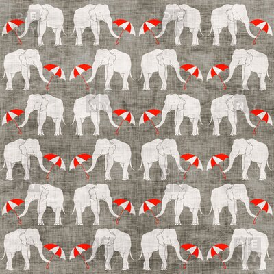 DENY Designs Holli Zollinger Elephant and Umbrella Polyesterrr Shower Curtain