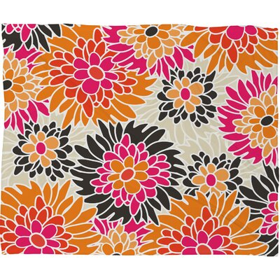 DENY Designs Andrea Victoria Summer Tango Floral Polyesterrr Fleece Throw Blanket
