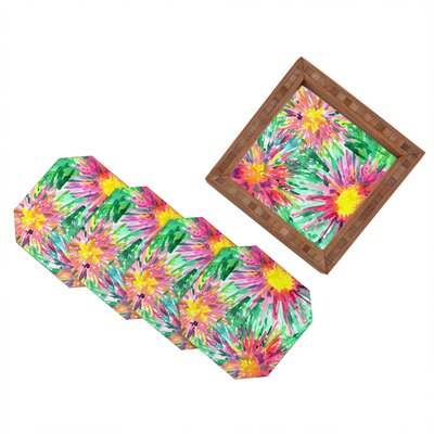 DENY Designs Joy Laforme Floral Confetti Coaster (Set of 4)