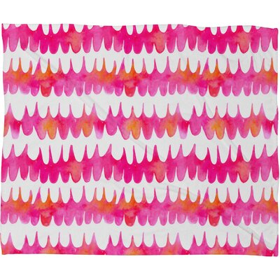 DENY Designs Betsy Olmsted Owl Feather Polyesterrr Fleece Throw Blanket
