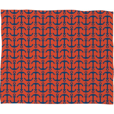 DENY Designs Andrea Victoria Ahoy Anchors Polyesterrr Fleece Throw Blanket