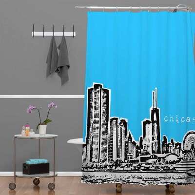 DENY Designs Bird Ave Woven Polyester Chicago Shower Curtain