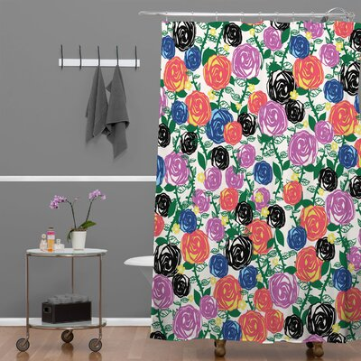DENY Designs Khristian A Howell Woven Polyester Valencia 5 Shower Curtain