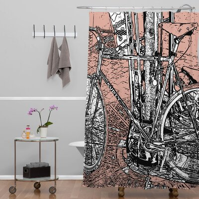 DENY Designs Romi Vega Polyester Bike Shower Curtain