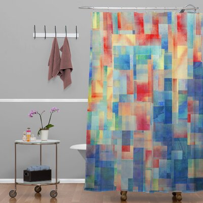 DENY Designs Jacqueline Maldonado Woven Polyester Torrentremix Shower Curtain