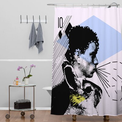 DENY Designs Randi Antonsen Polyester Poster Hero 1 Shower Curtain