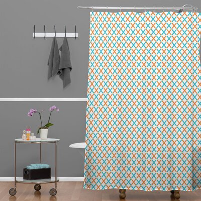 DENY Designs Tammie Bennett Polyester X Check Shower Curtain