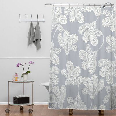 Khristian A Howell Woven Polyester Provencal Gray 1 Shower Curtain