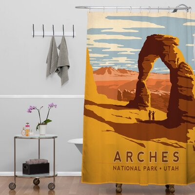 DENY Designs Anderson Design Group Woven Polyester Arches Shower Curtain