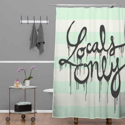 DENY Designs Wesley Bird Polyester Locals Only Shower Curtain
