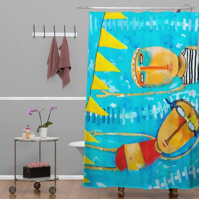DENY Designs Robin Faye Gates Polyester Swimming Is Hard Shower Curtain