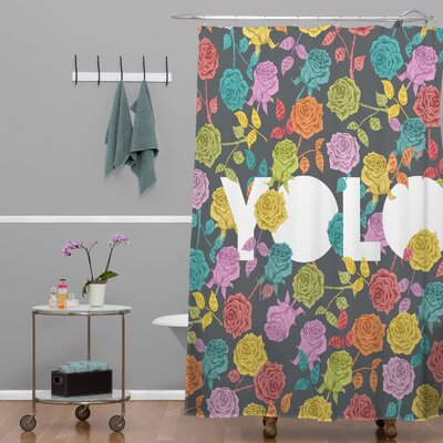 DENY Designs Bianca Woven Polyester Yolo Shower Curtain
