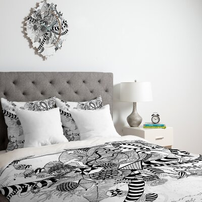 DENY Designs Iveta Abolina Black And White Play Duvet Cover Collection