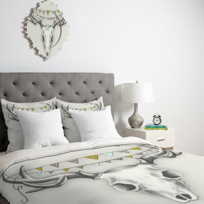DENY Designs Wesley Bird Skull Duvet Cover Collection