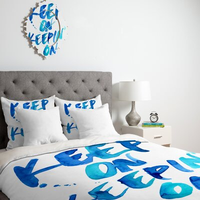 DENY Designs CMYKaren Keep on Keepin On Duvet Cover Collection
