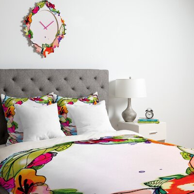 DENY Designs CayenaBlanca Floral Frame Duvet Cover Collection
