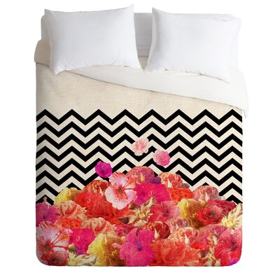 DENY Designs Bianca Green Chevron Flora 2 Duvet Cover Collection