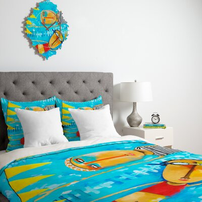 DENY Designs Robin Faye Gates Swimming Is Hard Duvet Cover Collection