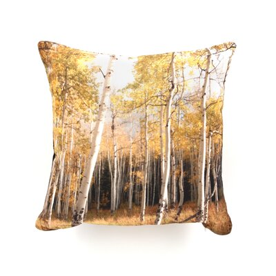 DENY Designs Bird Wanna Whistle Aspen Woven Polyester Throw Pillow