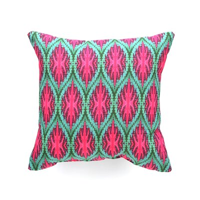 DENY Designs Wagner Campelo Ikat Leaves Indoor/Outdoor Polyester Throw Pillow