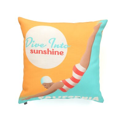 <strong>DENY Designs</strong> Anderson Design Group Dive California Indoor/Outdoor Polyester Throw Pillow