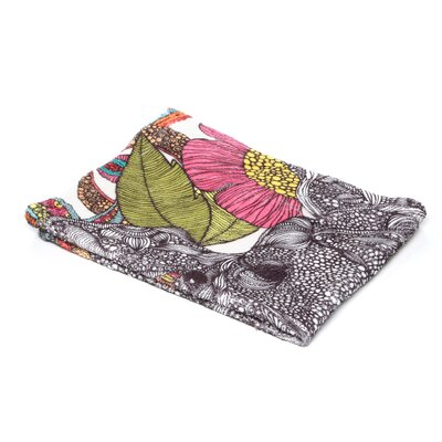 DENY Designs Valentina Ramos Arabella and The Polyester Flowers Fleece Throw Blanket
