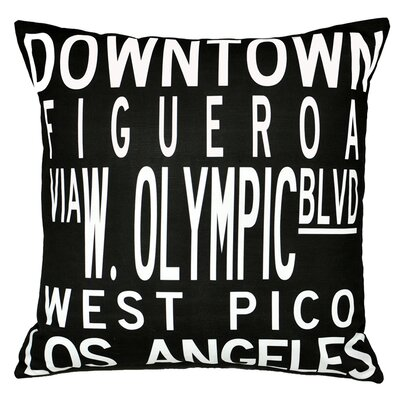 Uptown Artworks Dowtown LA Pillow