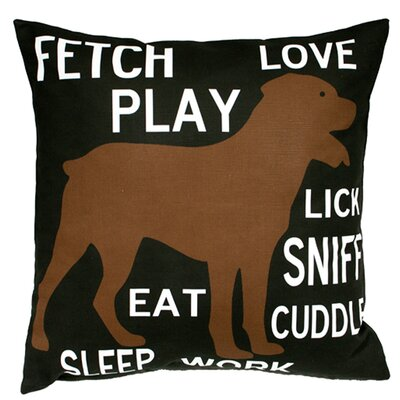 Uptown Artworks Fetch Play Love Pillow