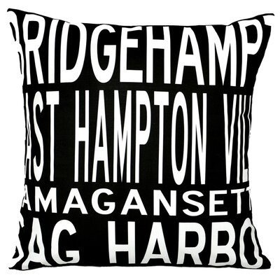 Uptown Artworks Hamptons 4 Line Pillow