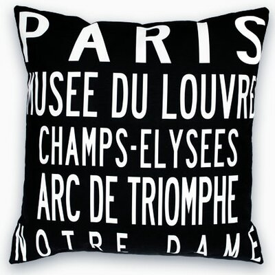 Uptown Artworks Paris Landmarks Pillow