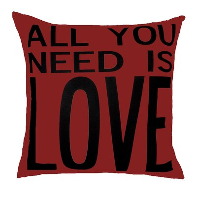 Uptown Artworks All You Need is Love Pillow