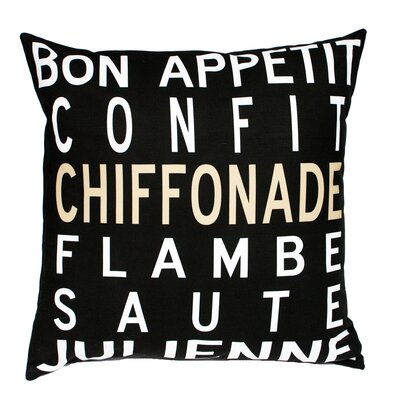 Uptown Artworks Bon Appetit Pillow