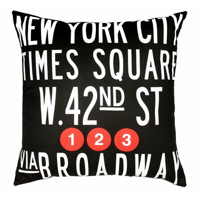 Uptown Artworks Times Square Pillow