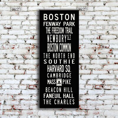 Uptown Artworks Boston Textual Art on Canvas