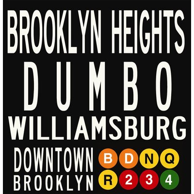 Uptown Artworks Brooklyn Neighbordhoods Sign Art