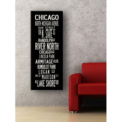 Uptown Artworks Chicago Textual Art on Canvas