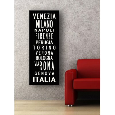 Uptown Artworks Rome Textual Art on Canvas