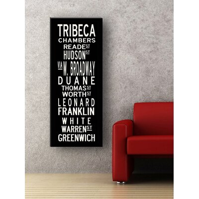 Uptown Artworks Tribeca Textual Art on Canvas