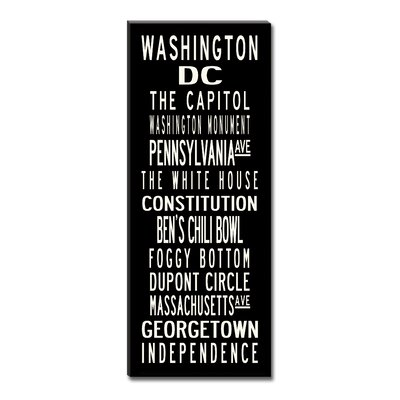 Uptown Artworks Washington DC Textual Art on Canvas