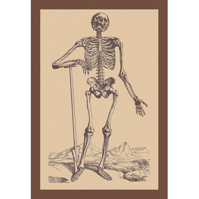 Buyenlarge Skeleton with Shovel by Versalius Graphic Art on Canvas