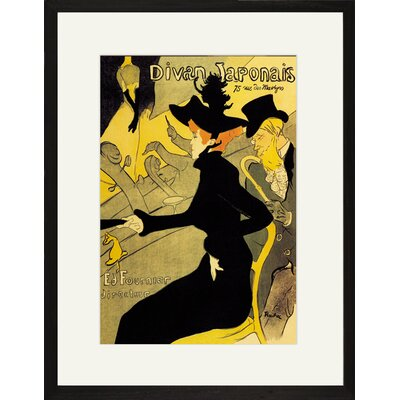 Buyenlarge Divan Japonais by Henri de Toulouse-Lautrec Framed Vintage Advertisement