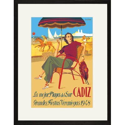 Buyenlarge Cadiz la Mejor Playa del Sur Framed and Matted Print