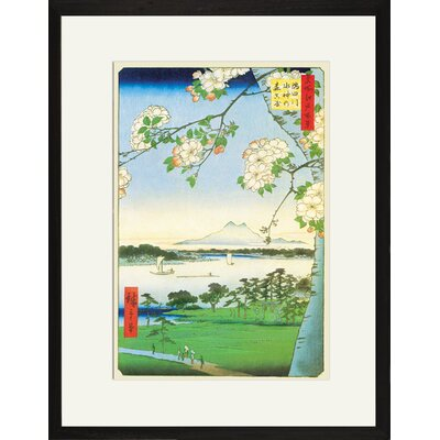 Cherry Blossoms Framed and Matted Print