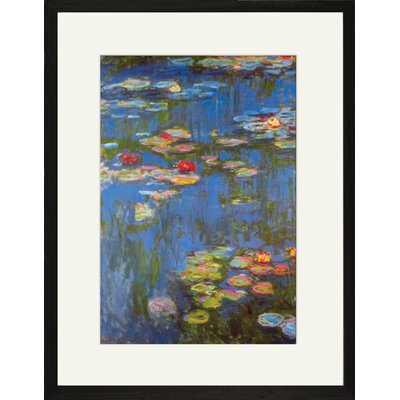 Buyenlarge Water Lilies # 3 Framed and Matted Print