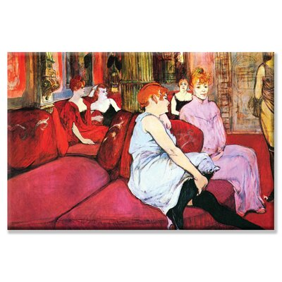 Buyenlarge Salon in The Rue de Moulins Canvas Wall Art