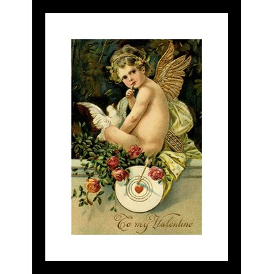 Angel Girl With Dove Framed and Matted Print