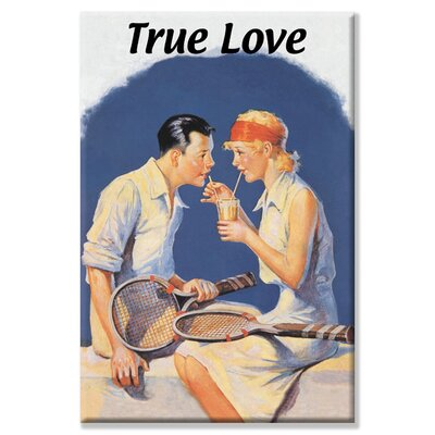 Buyenlarge True Love: Sharing a Milkshake After Tennis Canvas Art