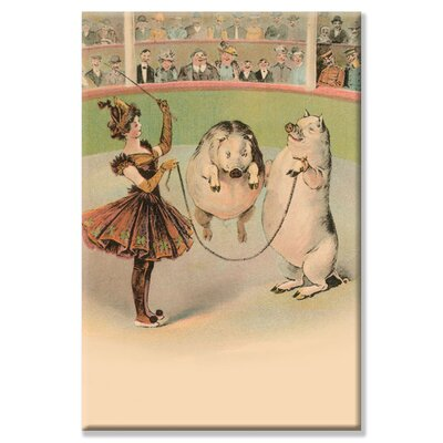 Buyenlarge Jump Rope Pig Graphic Art on Canvas