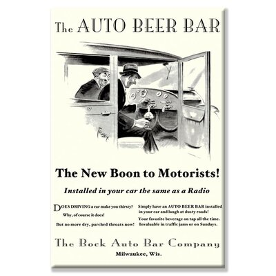The Auto Beer Bar Vintage Advertisement on Canvas